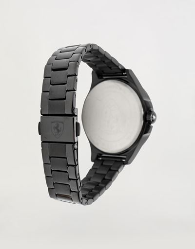 Scuderia Ferrari Online Store - Women's black Pilota watch with crystals - Quartz Watches