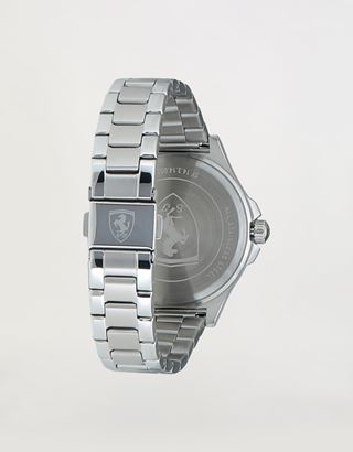 Scuderia Ferrari Online Store - Ladies steel Pilota watch with crystals - Quartz Watches