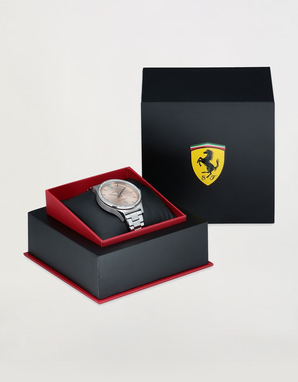 Scuderia Ferrari Online Store - Women's steel Pilota watch with crystals - Quartz Watches