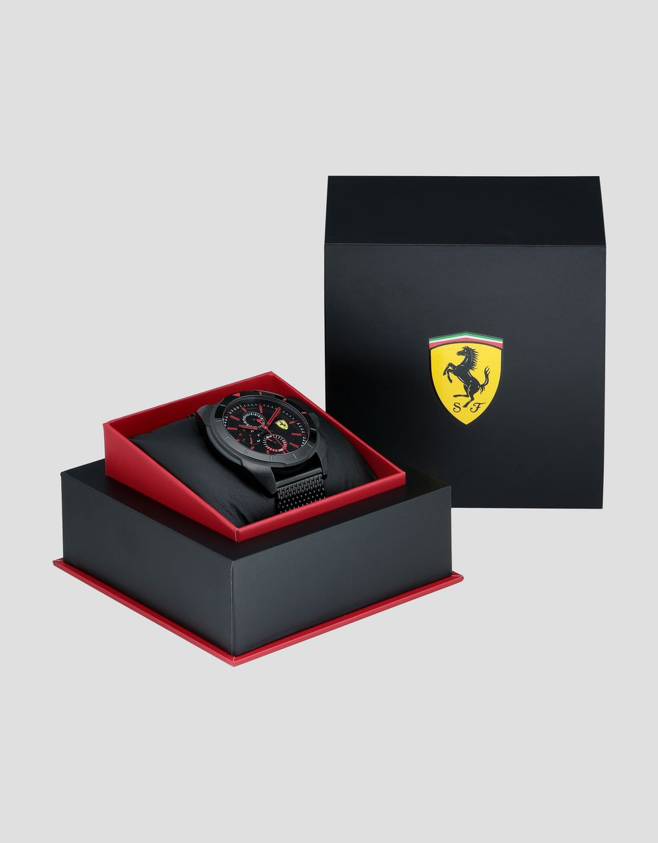 Scuderia Ferrari Online Store - Montre multifonction Forza noire - Quartz Multifunctional Watch