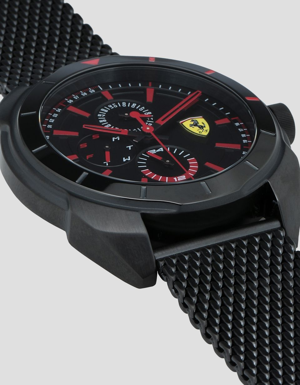 Scuderia Ferrari Online Store - Black Forza multi-function watch - Quartz Multifunctional Watch