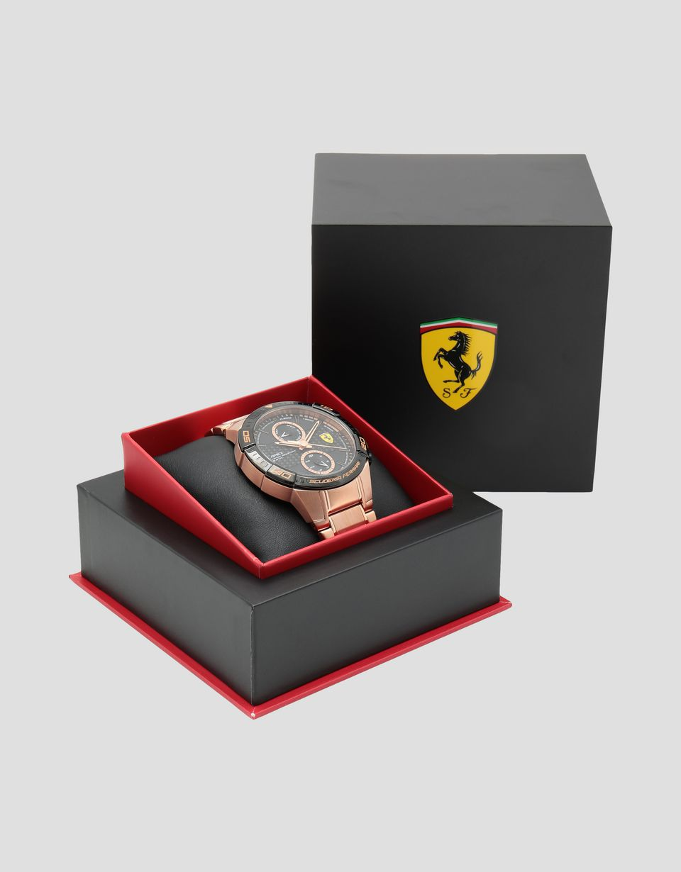 Scuderia Ferrari Online Store - Rose gold-coloured Apex multi-function watch - Quartz Multifunctional Watch