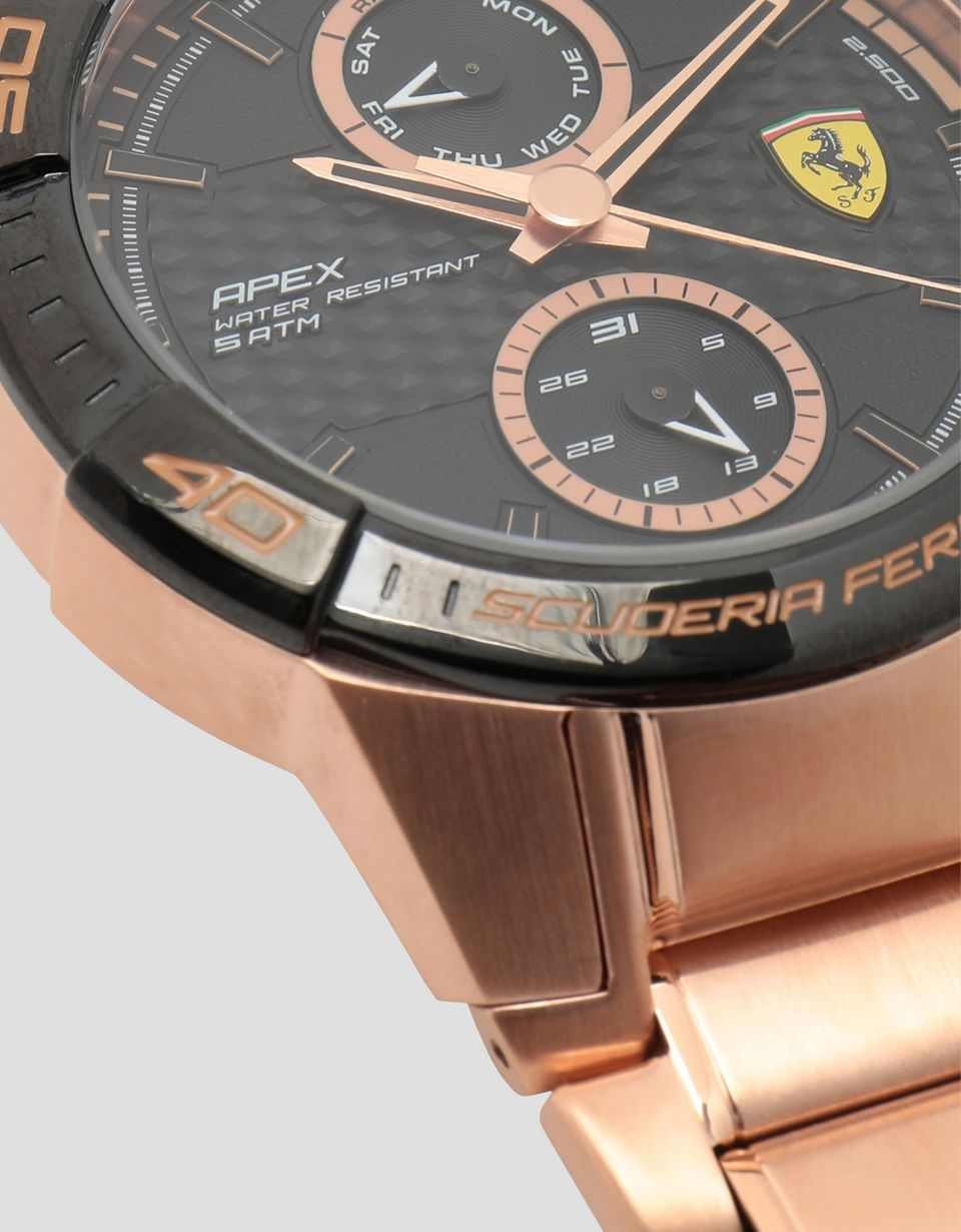 Scuderia Ferrari Online Store - Orologio multifunzione Apex color oro rosa - Quartz Multifunctional Watch
