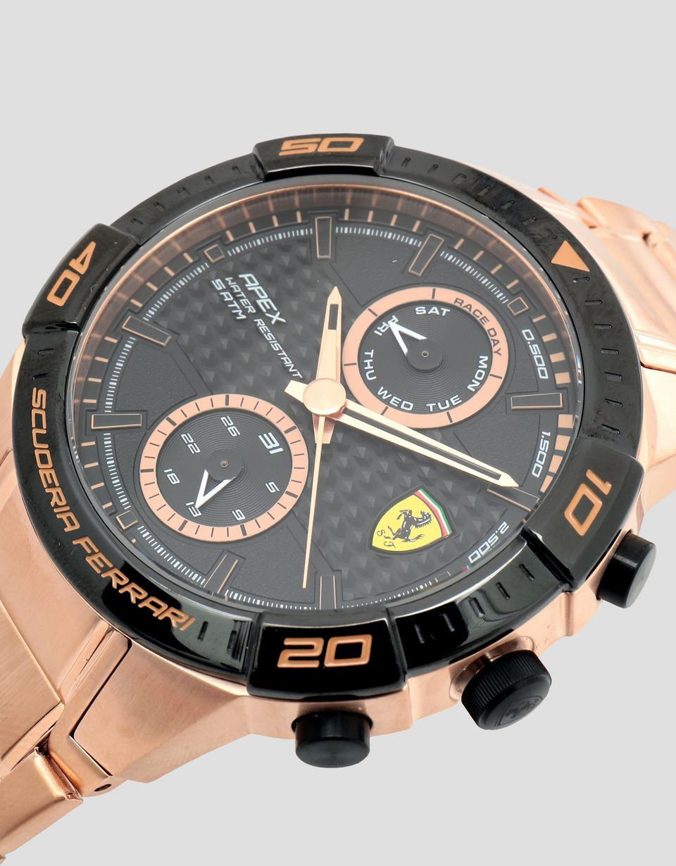 Scuderia Ferrari Online Store - Montre Apex multifonction finition or rose - Quartz Multifunctional Watch