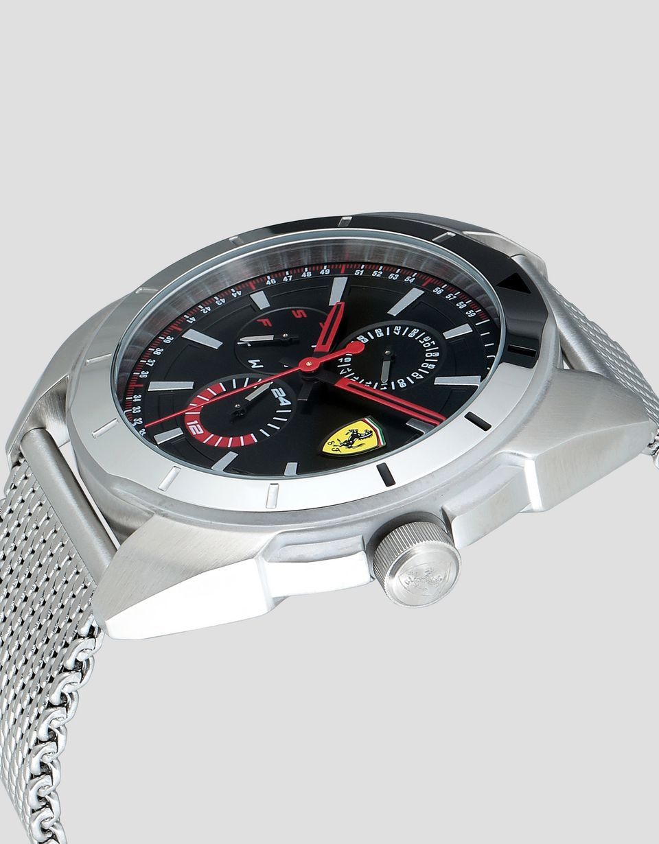 Scuderia Ferrari Online Store - Steel Forza multi-function watch with black face - Quartz Multifunctional Watch