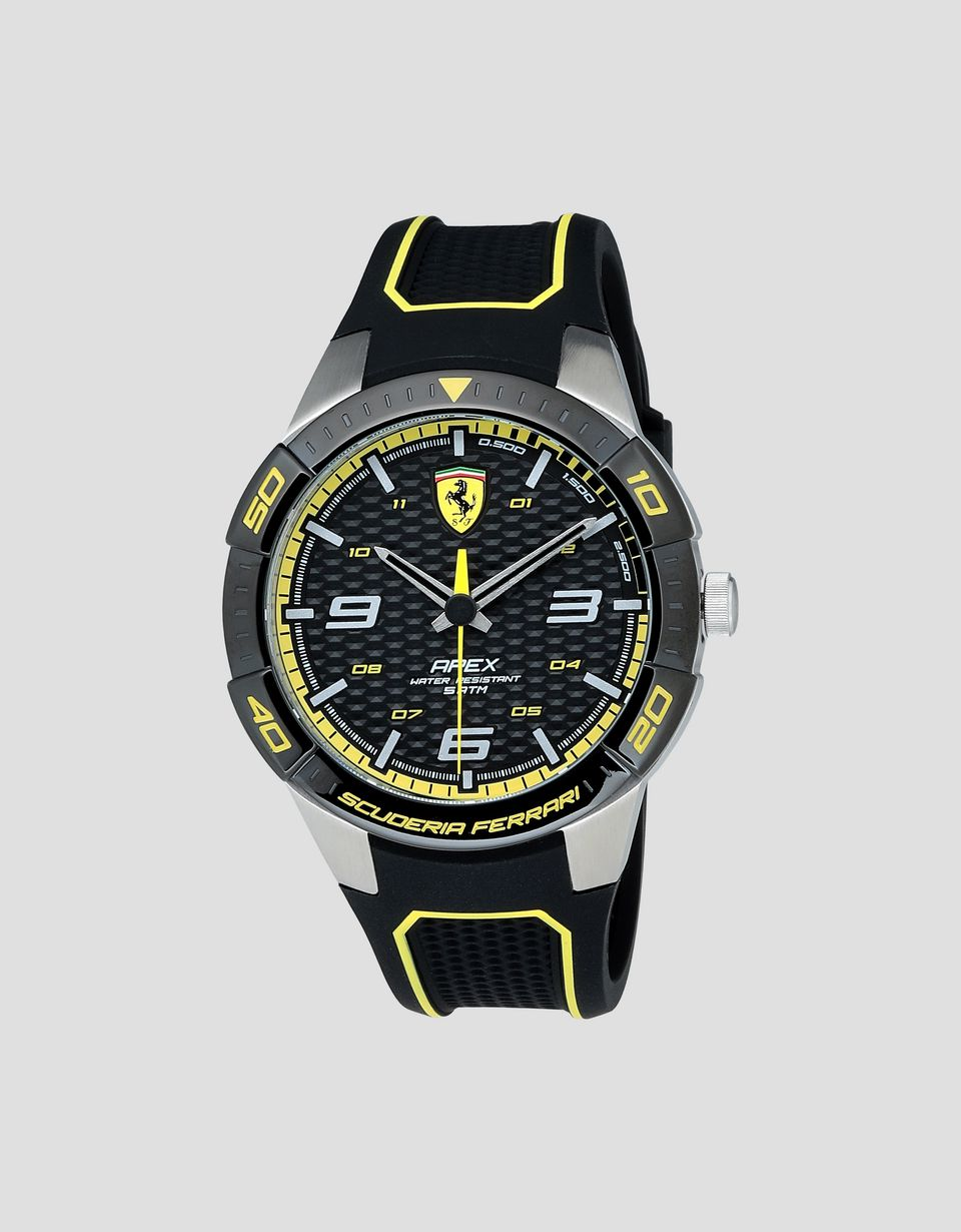 Scuderia Ferrari Online Store - Black Apex watch with yellow details - Quartz Watches