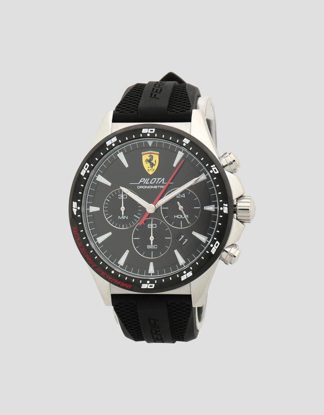 a612756e5 Scuderia Ferrari Online Store - Reloj cronógrafo Pilota con caja de acero y  esfera negra ...