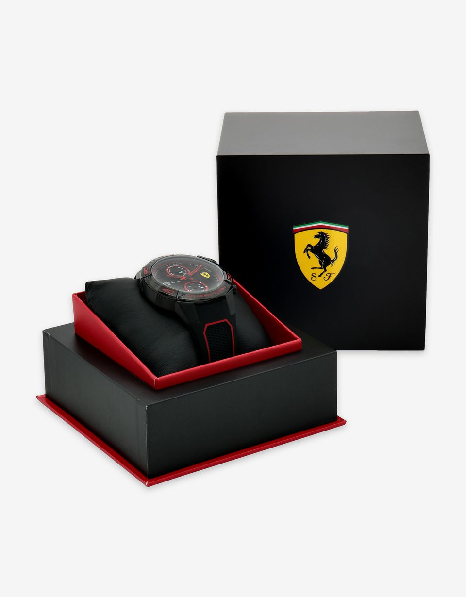 Scuderia Ferrari Online Store - Multi-functional black Apex watch with red details - Quartz Multifunctional Watch