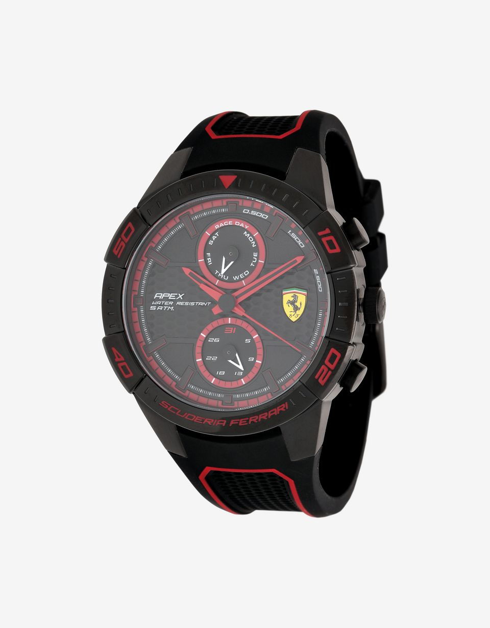 Scuderia Ferrari Online Store - Multi-functional black Apex watch with red details -