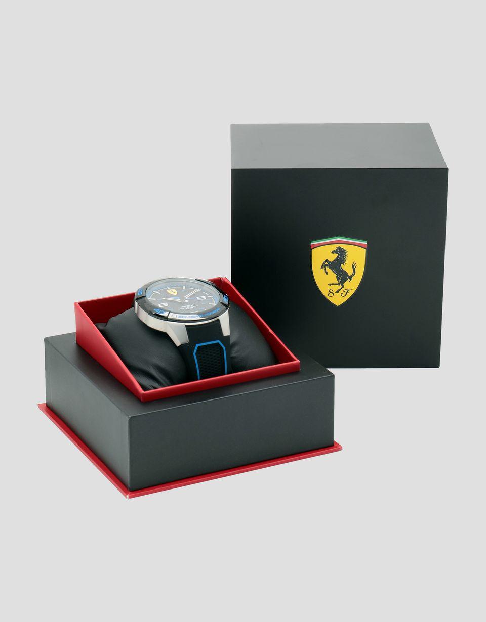 Scuderia Ferrari Online Store - Montre Apex noire avec détails bleus - Montres à quartz