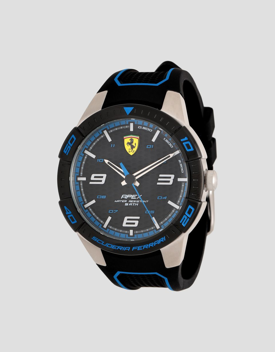 Scuderia Ferrari Online Store - Black Apex watch with blue details - Quartz Watches