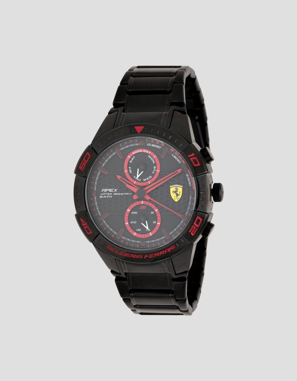 Scuderia Ferrari Online Store - Black Apex multi-function watch - Quartz Multifunctional Watch
