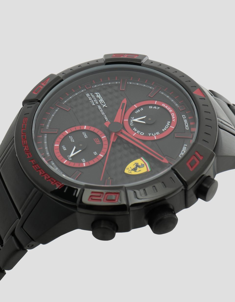 Scuderia Ferrari Online Store - Multi-functional black Apex watch - Quartz Multifunctional Watch