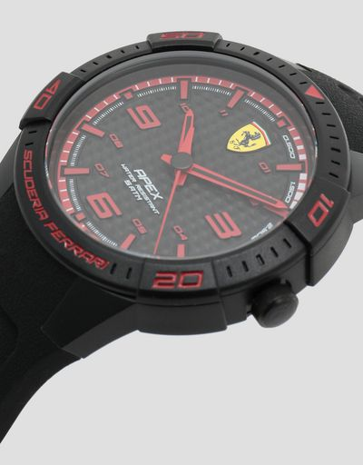 Set of two Apex watches with black dials and red details