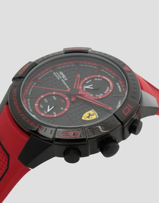 Scuderia Ferrari Online Store - Multi-functional red and black Apex watch - Quartz Multifunctional Watch