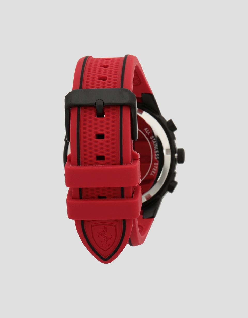 Scuderia Ferrari Online Store - Red and black Apex multi-function watch - Quartz Multifunctional Watch
