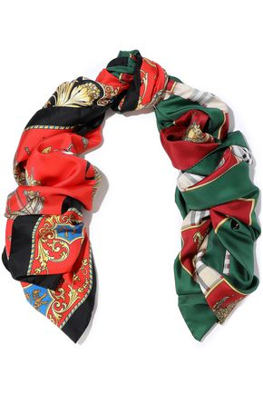BURBERRY Printed silk-satin twill scarf