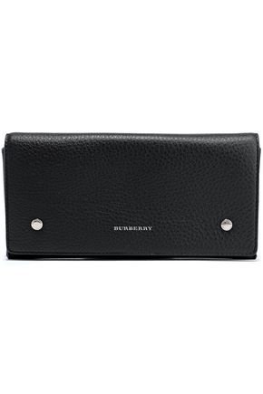 BURBERRY Pebbled-leather continental wallet