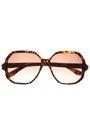SAINT LAURENT Square-frame tortoiseshell acetate sunglasses