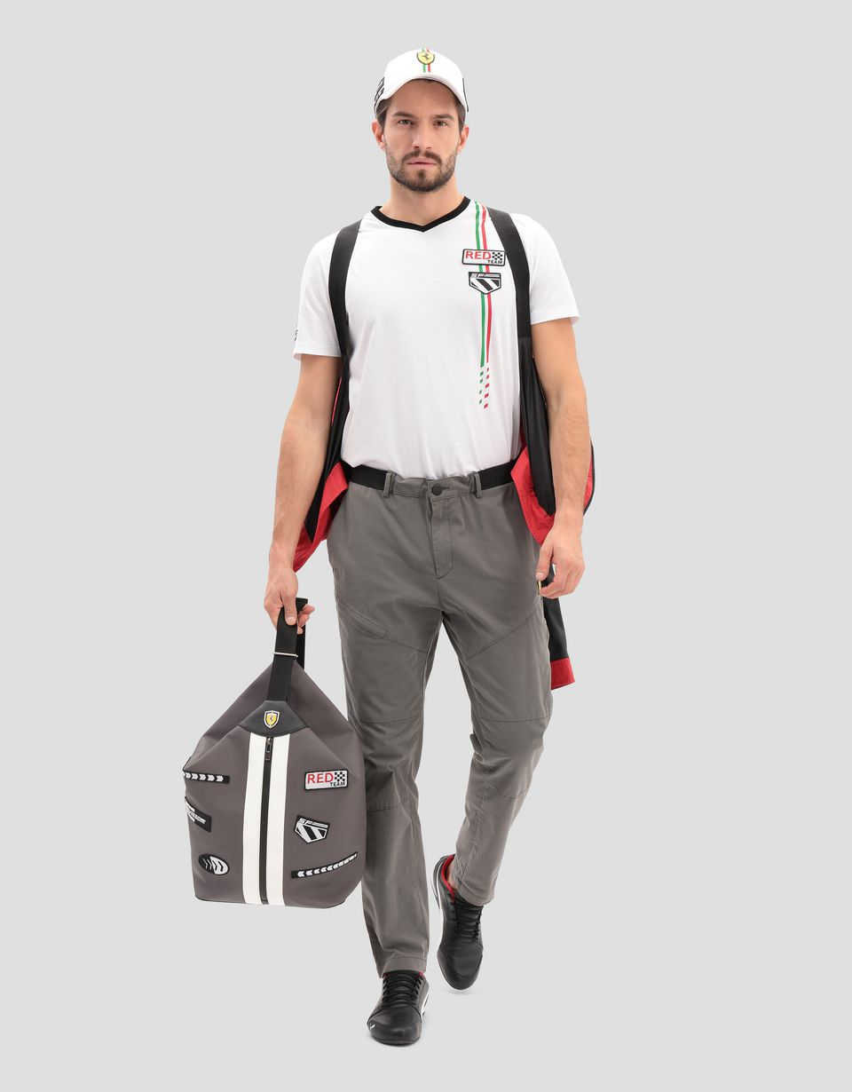Scuderia Ferrari Online Store - Made in Italy Freccia Livrea backpack in technical fabric - Regular Rucksacks