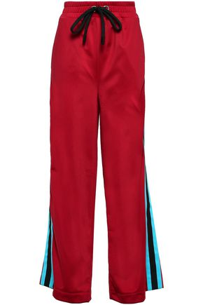 NO KA 'OI Kai Kao striped stretch wide-leg pants