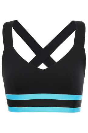 NO KA 'OI Maoli striped stretch sports bra