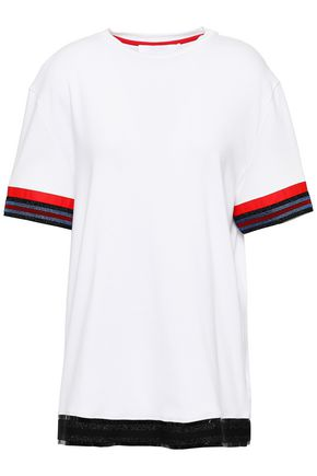 NO KA 'OI His metallic stripe-trimmed cotton-jersey T-shirt