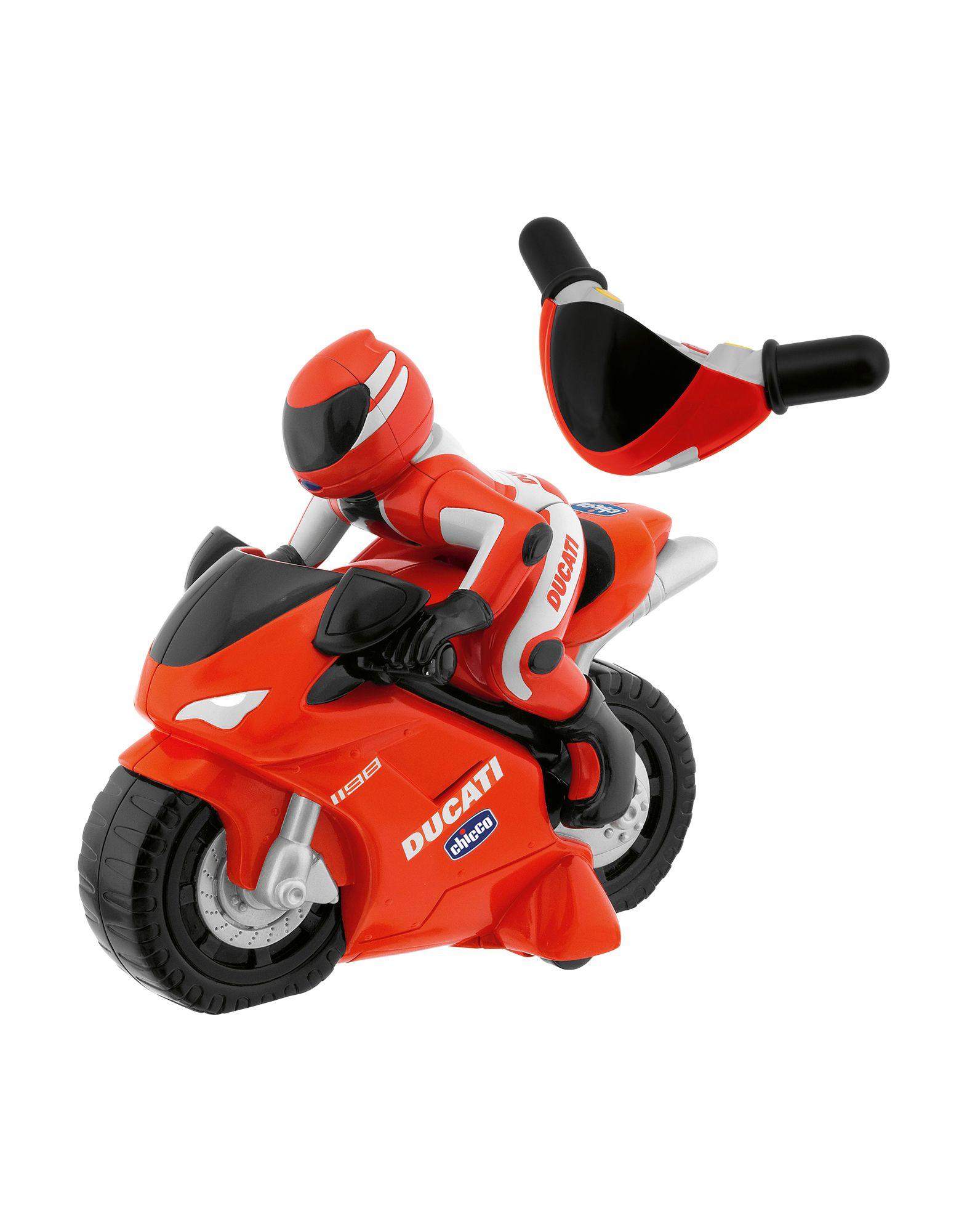 CHICCO Машинки, самолёты и др. радиоуправляемый мотоцикл full funk с гонщиком аккум адапт муз свет 2 цв sy380 м31642