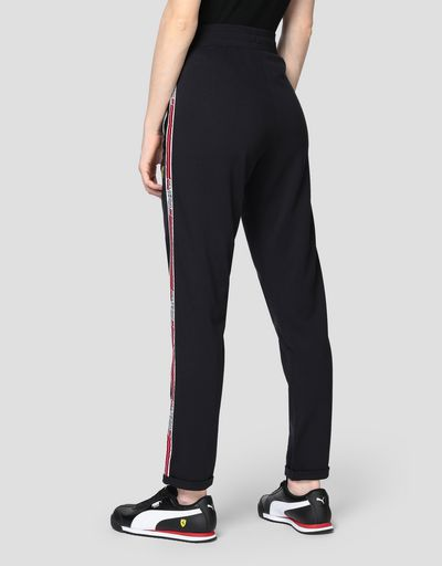 Women's jogging trousers in Milano rib with Icon Tape