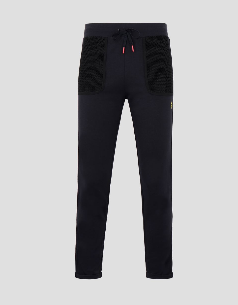 Scuderia Ferrari Online Store - Women's jogging trousers in Milano rib with Icon Tape - Joggers