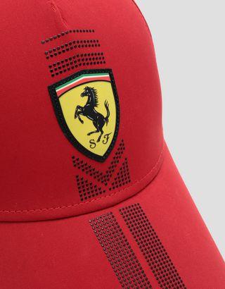 Scuderia Ferrari Online Store - Women's baseball cap with rhinestones - Baseball Caps