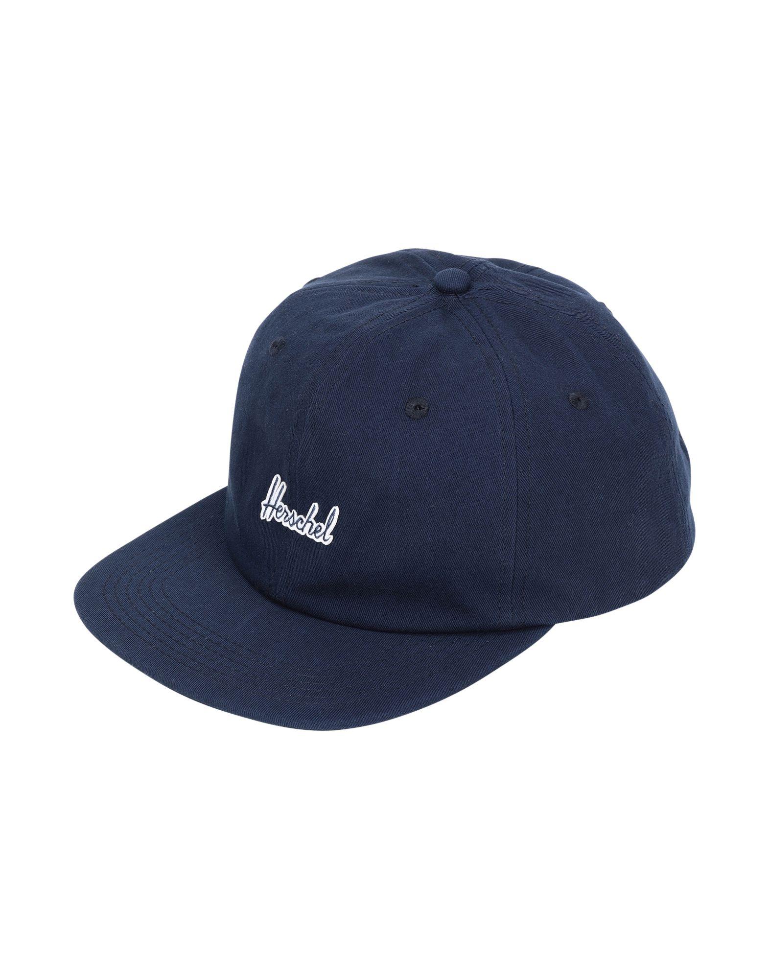 《セール開催中》HERSCHEL SUPPLY CO. Unisex 帽子 ダークブルー one size コットン 100% ALBERT