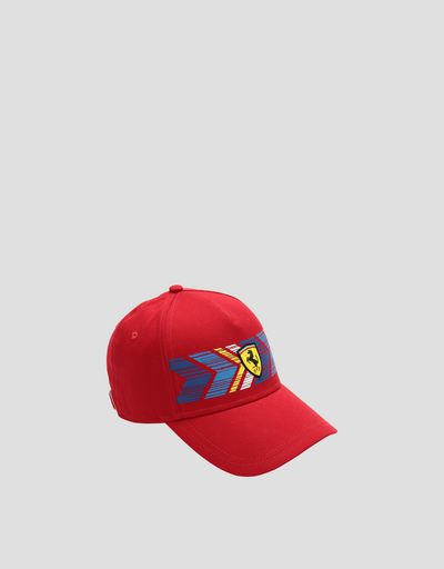 Children's baseball cap with colored print