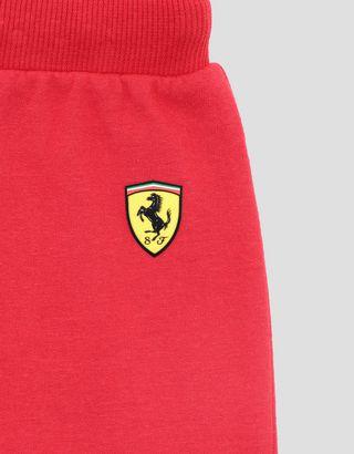 Scuderia Ferrari Online Store - Boys' cotton fleece shorts with inserts - Shorts