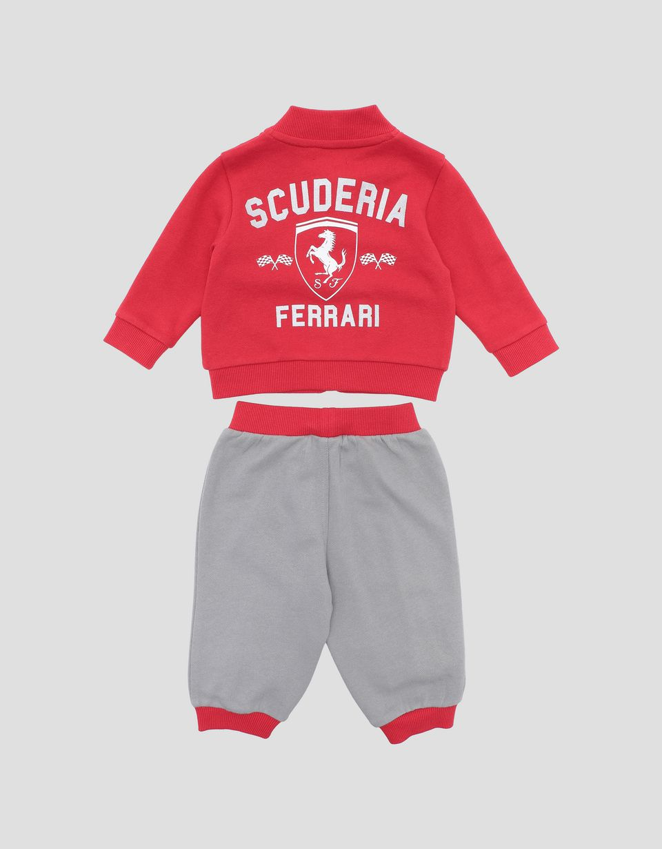 Scuderia Ferrari Online Store - Infants' cotton sweatshirt and sweatpants - Baby & Kids Sets