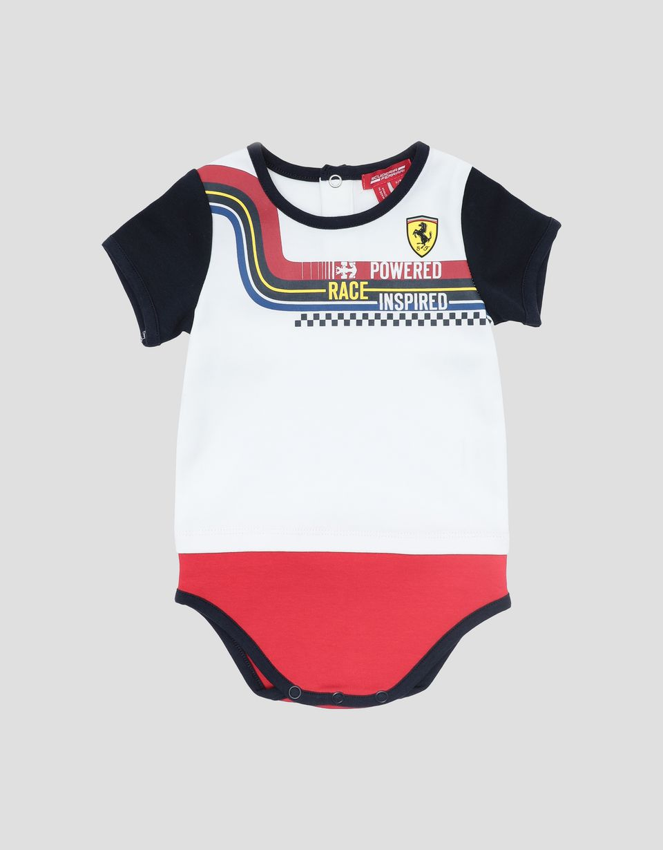 Scuderia Ferrari Online Store - Newborn baby bodysuit and hat set with racing print - Combo Packs