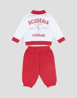 Scuderia Ferrari Online Store - Babyset mit Sweatjacke und Hose aus Baumwolle - Kleinkinder- & Kindersets