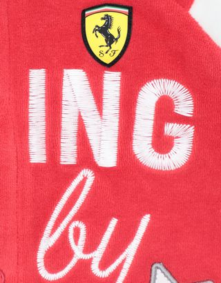 Scuderia Ferrari Online Store - Infant's chenille all-in-one with RACING BABY print - Jumpsuits