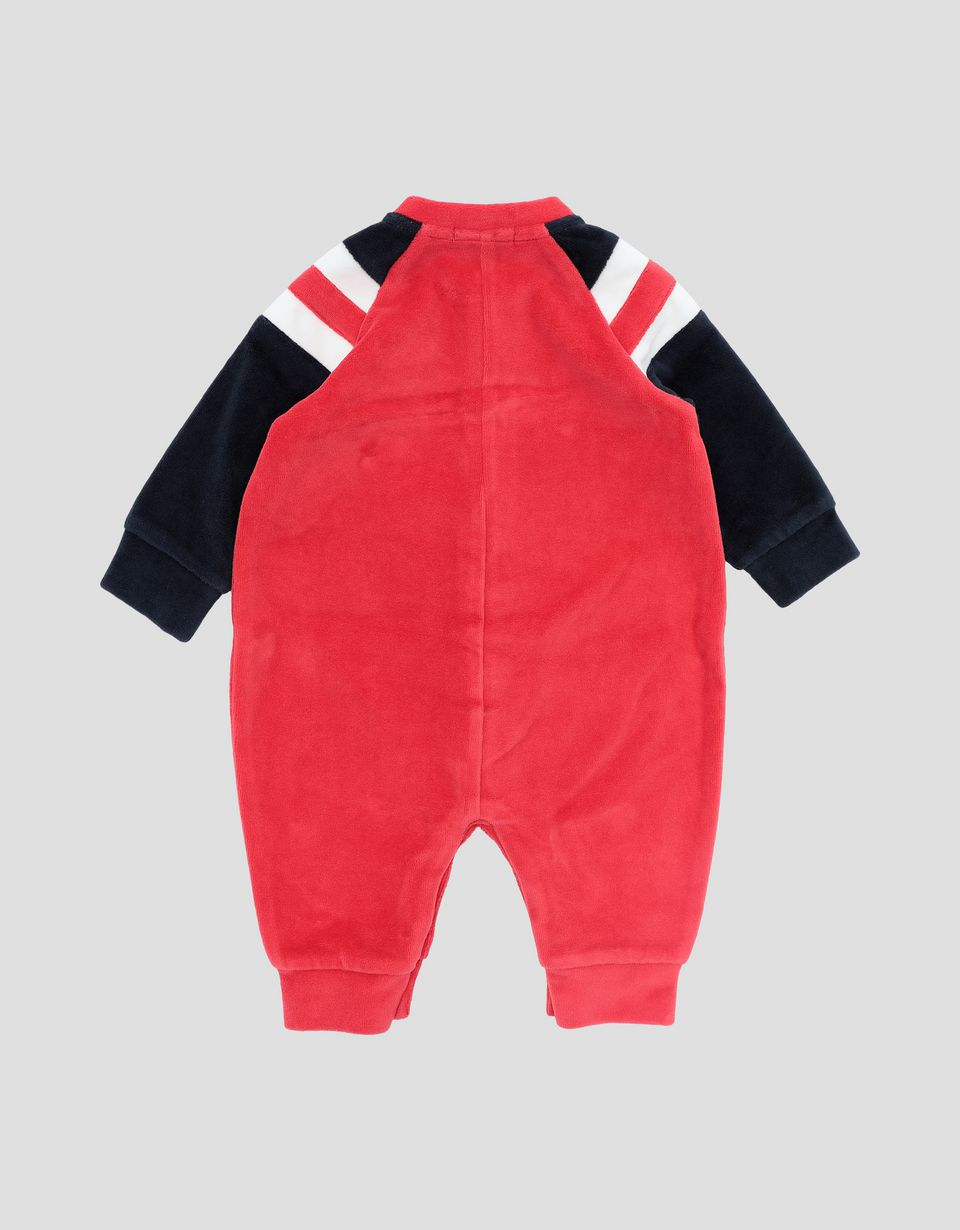 Scuderia Ferrari Online Store - Infant's chenille all-in-one with RACING BABY print -