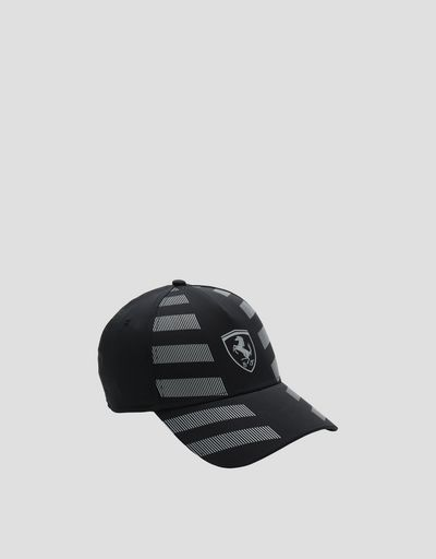 Men's baseball cap with reflective inserts