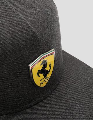Scuderia Ferrari Online Store - Men's hat with flat peak and Icon Tape - Baseball Caps