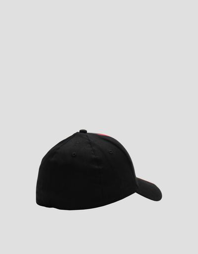 Scuderia Ferrari Online Store - Men's hat with rubberised design - Baseball Caps