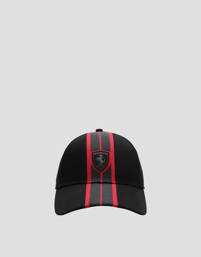 Men's baseball cap with rubberized livery