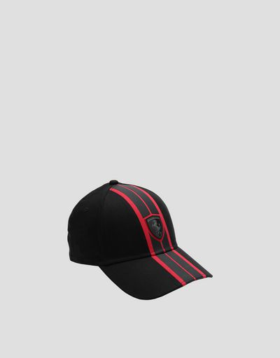 Men's hat with rubberised design
