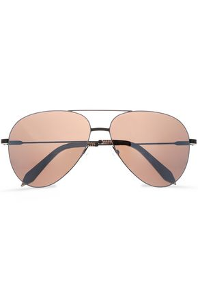 VICTORIA BECKHAM Classic Victoria aviator-style gunmetal-tone sunglasses