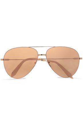 VICTORIA BECKHAM Aviator-style gold-tone sunglasses