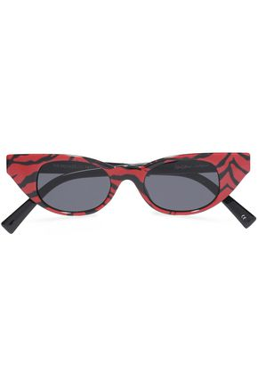 ADAM SELMAN x LE SPECS The Breaker cat-eye tiger-print acetate sunglasses