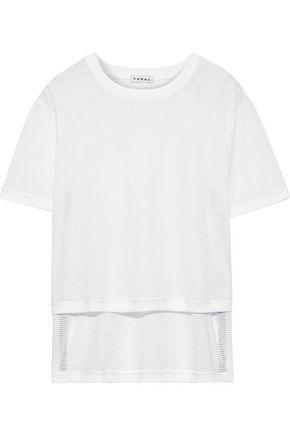 KORAL Cruppo cropped mesh T-shirt