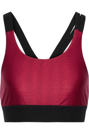 KORAL Stretch-jacquard sports bra