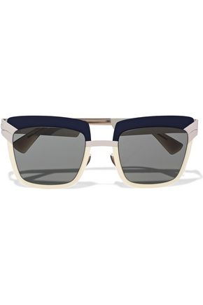 MYKITA Square-frame metal and acetate sunglasses
